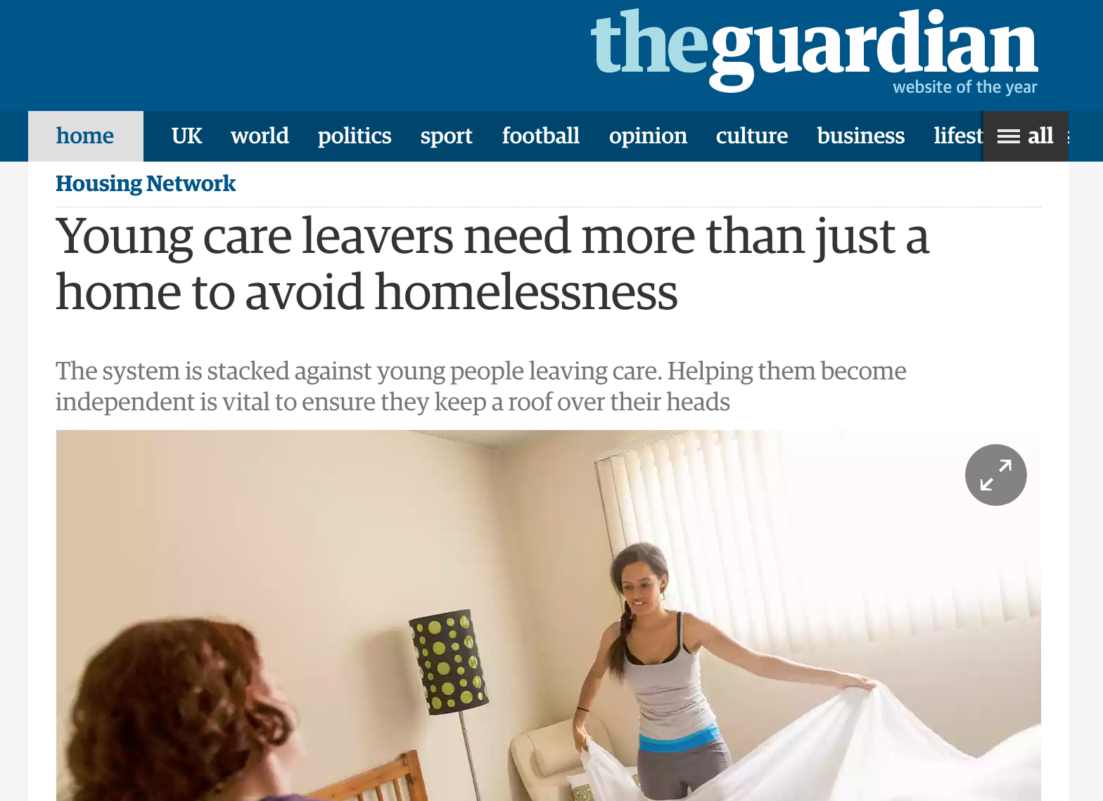 young people leaving the care system The government has made a commitment to improve support for young people leaving foster or residential care in england but the system is not working effectively.
